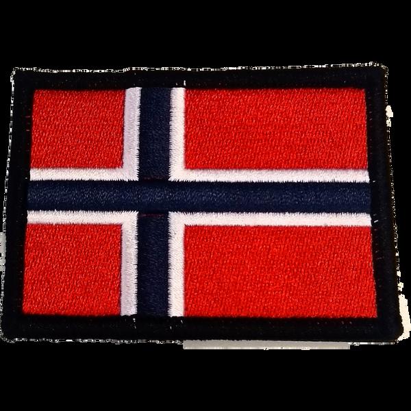 Bilde av Patch - Brodert Norsk flagg med sort kant