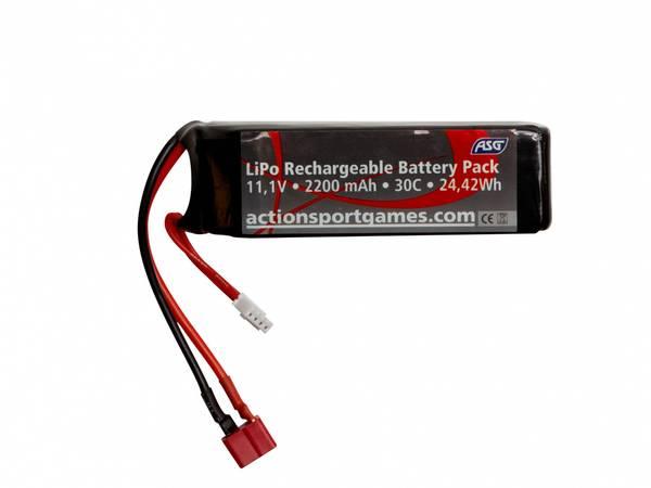 Bilde av ASG Batteri LIPO - 11.1V 2200 mAh 30C T-Plug